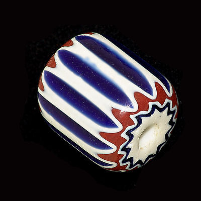 Six Layers Chevron (Rosetta) Glass bead. Murano-Venezia 1920/1930   (0088)