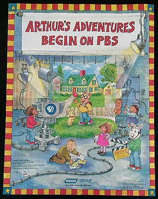 Original vintage 1996 ARTHUR (Marc Brown) PBS television show library poster