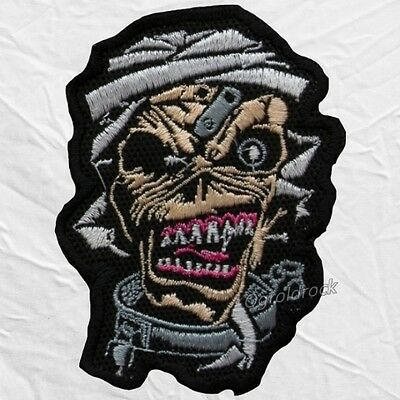 Iron Maiden Eddie Mummy Embroidered Patch Heavy Rock Band The Head Powerslave