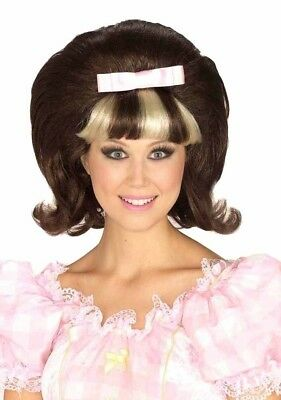 60's Princess Hairspray Bouffant Theatrical Wig Brown Tracy Flip Beehive style