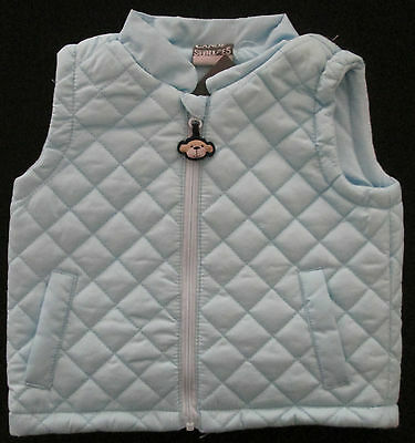 Baby Boys Vest Jacket Coat Winter Warm Puffer Sleeveless Outwear Size 00, 0 NEW