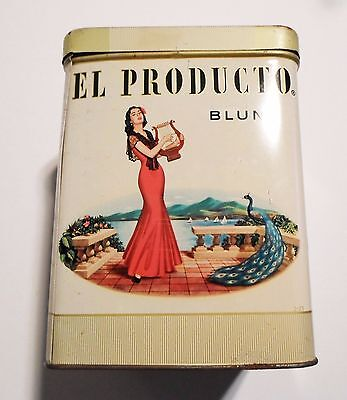 Vintage El Producto Blunt Tin With Lid Some Oxidation Little Rust