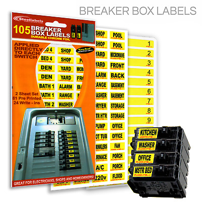 "Fuse Labels Circuit  Breaker Decals for Breaker Box Switches ""Applies to Switch"""