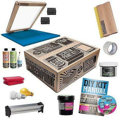 DIY PRINT SHOP Classic Table Top Complete T-Shirt Screen Printing Kit NEW