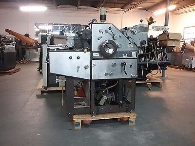 AB Dick 9850 Press 2 color with kompac and jumbo ink rollers