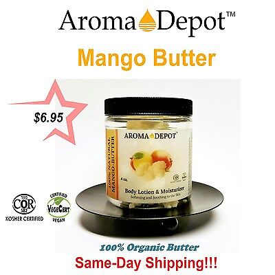 Raw Mango Butter 100% Organic Natural Pure 4 oz. Jar Container