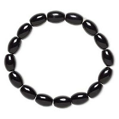 Black Glass Stretchable Bracelet (H20D9854CL)