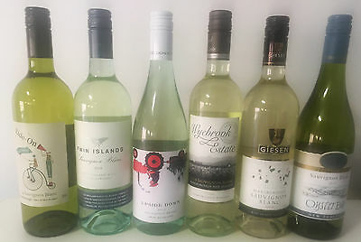 6 X Mixed NZ Sauvignon Blanc Oyster Bay Giesen Upside (No Delivery to WA & NT)