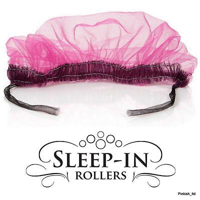 Extra Large Hair Net for Sleep in Rollers Foam  - Pink & Black
