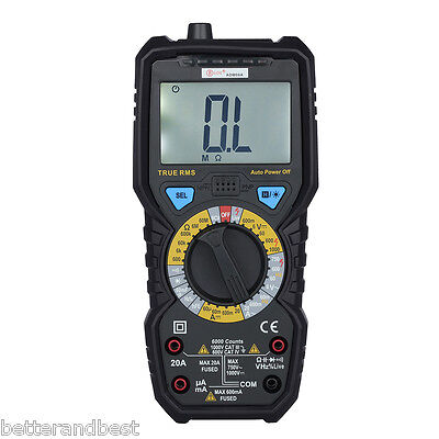 UK ADM08A 6000 Digital LCD Multimeter Voltmeter Tester Ammeter AC DC Temperature