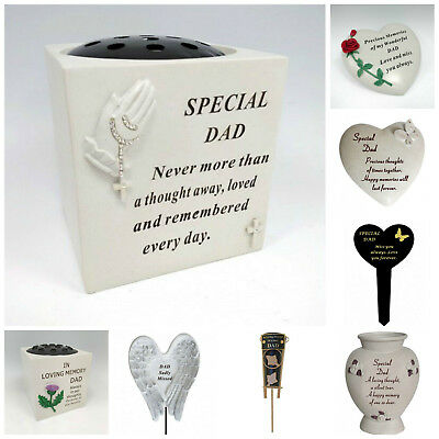 Fathers Day Memorial Plaques, Dad Tributes, Graveside Spikes, Remembrance Vase