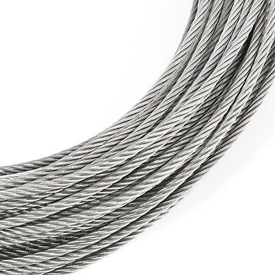 10mm STAINLESS WIRE ROPE stranded cable weaved cord V4A steel marine industry