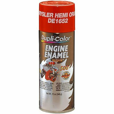 Duplicolor DE1652 Chyrsler Hemi Orange Motor Engine Spray Paint Aerosol 12oz.