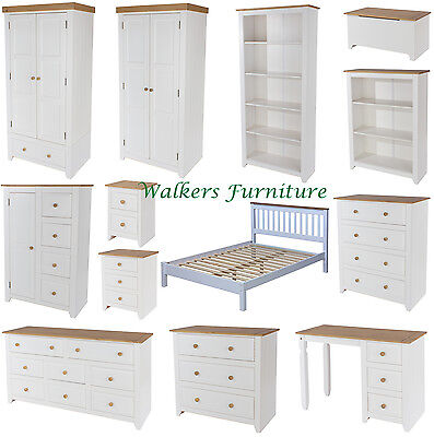 Pleasant Capri White Pine Bedroom Furniture Wardrobes Chests Dressing Table Bed Download Free Architecture Designs Ferenbritishbridgeorg