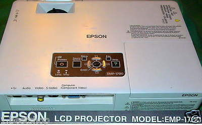 Beamer Epson Emp-1700 Lcd Projector Multimedia Projektor Uhe Lampe Video Eingang