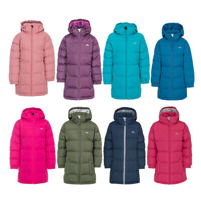 Girls Trespass Tiffy Puffa Padded Quilted School Coat | Kids Jacket