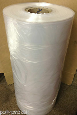 """Clear Polythene Plastic Garment Covers Film Dry Cleaners Bags 38"""" 54"""" 65"""" Drop"""