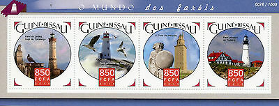 Guinea-Bissau 2015 MNH Lighthouses 4v M/S Portland Head Lighthouse Stamps
