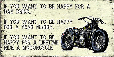 Motorcycle Enthusiast  Sign,motorcycle Humour .vintage Bob