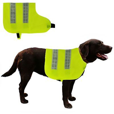 Hi Visibility Dog Vest High Vis Safety Reflective Hook Loop Coat Jacket Walking