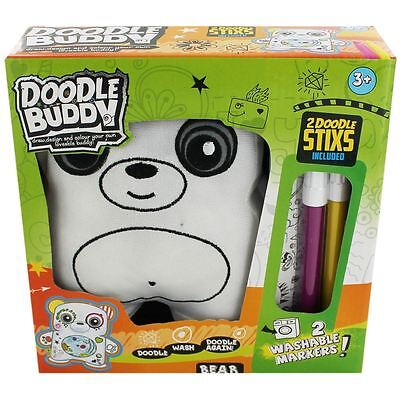 2 In 1 Childrens Kids Colouring Doodle Buddy Grafiti Cushion Owl Toy