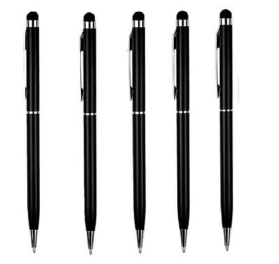5 x BLACK PRO Stylus & Ballpoint Pen FOR ALL Mobile Phones,Tablet,IPAD,IPHONE#23