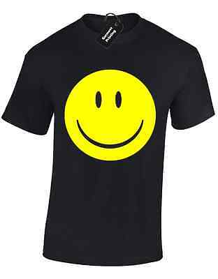 Smile Yellow Face Mens T Shirt Tee Acid House Rave Hacienda 90'S Fashion Music