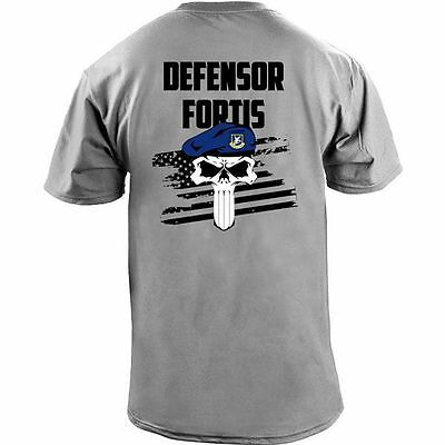 Air Force Security Forces Defensor Fortis Skull T-Shirt