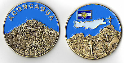 Mount Aconcagua Commemorative Coin - Highest Mountain in the Western Hemisphere