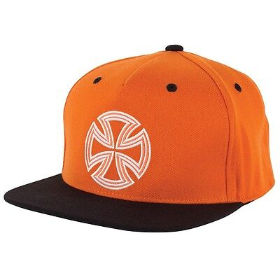 Independent Trucks LINES 110 Flexfit Snapback Skateboard Hat ORANGE/BLACK
