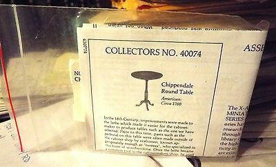 X-Acto House Of Miniatures - Chippendale Round Table - Circa 1760 - #40074