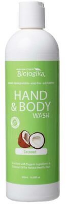 Coconut Hand & Body Wash 500ml - Biologika