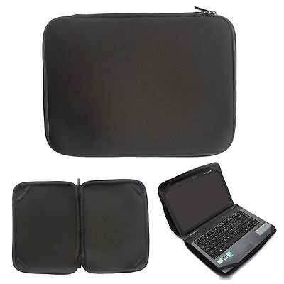 """Black 15"""" Laptop Sleeve Bag Case Cover For 15.4"""" 15.6"""" HP Dell Acer Toshiba"""