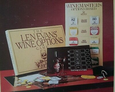 The Len Evans Wine Options Game, Unused in Box -  Vintage - For wine enthusiasts