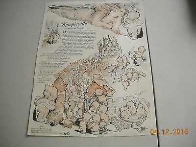 Kewpieville Rose O'Neill Ladies Home Journal April 1925  Magazine Page