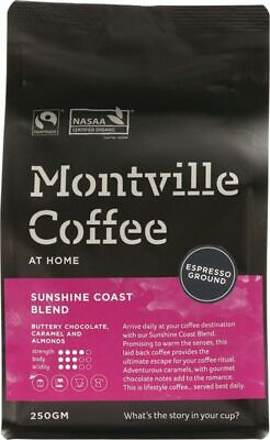 Organic Coffee - Sunshine Coast Blend (Espresso) 250g - Montville Coffee