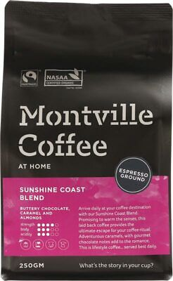 Sunshine Coast Blend Coffee Ground (Espresso) 250g - Montville Coffee