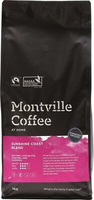 Organic Coffee - Sunshine Coast Blend (Espresso) 1kg - Montville Coffee