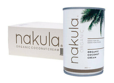 Organic Coconut Cream (12x400ml) - Nakula