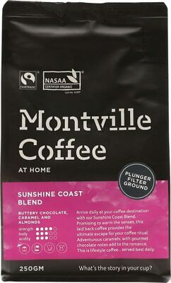 Organic Coffee - Sunshine Coast Blend (Plunger) 250g - Montville Coffee