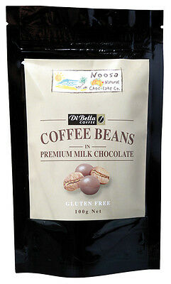 Milk Chocolate Coated Coffee Beans 100g - Noosa Natural Chocolate Co