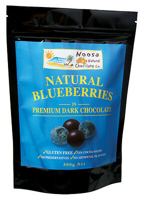 Dark Chocolate Coated Blueberries 300g - Noosa Natural Chocolate Co