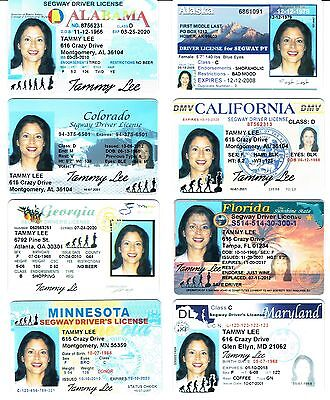 Segway Driver License - fully customized, any USA state