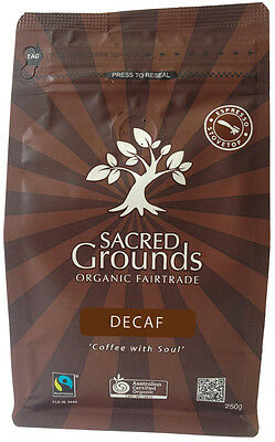 Organic Decaf Coffee Ground (Espresso)  250g - Sacred Grounds