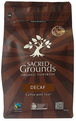 Fairtrade Organic - Decaf Whole Coffee Beans  250g - Sacred Grounds