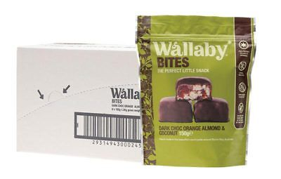 Bites - Dark Choc Orange & Almond (8x150g) - Wallaby