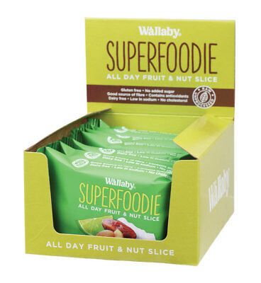 Superfoodie Coconut Lime Slices 8x48g - Wallaby