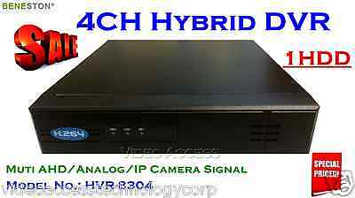 Hybrid DVR / 4CH HVR 1HDD / AHD 720P / Analog / IP / CCTV - On Sale