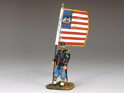 King (and) & Country CW036 - Union Sergeant w/ Flag - Retired