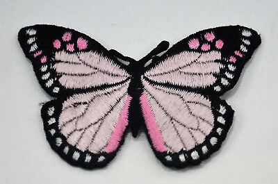 BUTTERFLY MOTH PURPLE LILAC  Embroidered Iron Sew On Cloth Patch Badge APPLIQUE